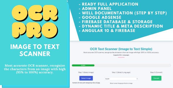 [Free Download] OCR Pro – Image to Text Converter (Angular 10 & Firebase) Full Production Ready App With Admin Panel (Nulled) [Latest Version]