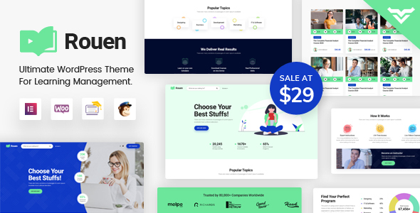 [Free Download] Rouen – An E-learning Education WordPress Theme (Nulled) [Latest Version]