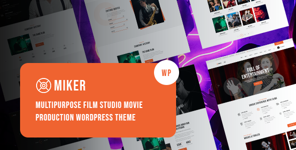 [Free Download] Miker – Movie and Film Studio WordPress Theme (Nulled) [Latest Version]