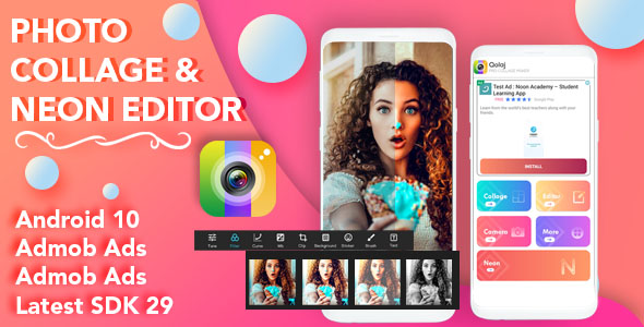[Free Download] Photo Collage Maker & Neon Editor for Android (Nulled) [Latest Version]