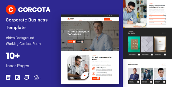 [Free Download] Corcota – Business Corporate Template (Nulled) [Latest Version]