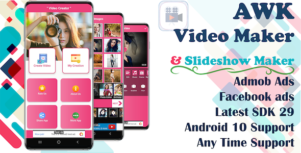 [Free Download] AWK Video Creator With Music (Android 10 Supported) (Nulled) [Latest Version]