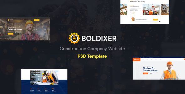 [Free Download] Boldixer – Construction PSD Template (Nulled) [Latest Version]
