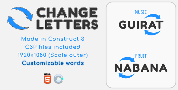 [Free Download] Change Letters – HTML5 Educational Game (Nulled) [Latest Version]