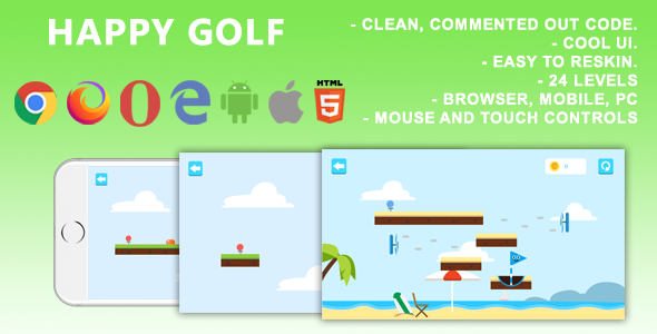 [Free Download] Happy Golf. Mobile, Html5 Game. .c3p (Construct 3) (Nulled) [Latest Version]