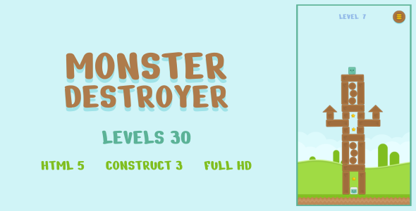 [Free Download] Monster Destroyer – HTML5 Game (Construct3) (Nulled) [Latest Version]