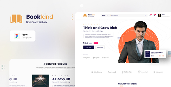 [Free Download] Bookland – Book Store Ecommerce Website Figma Template (Nulled) [Latest Version]