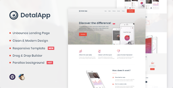 [Free Download] Detalapp – App Unbounce Landing Page Template (Nulled) [Latest Version]