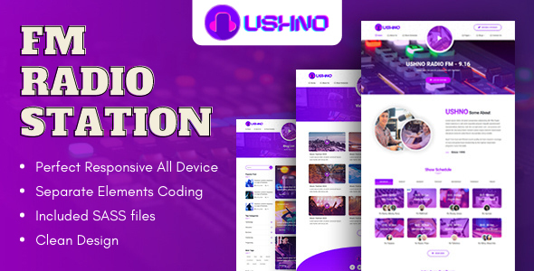 [Free Download] Ushno – FM Radio Station Bootstrap HTML Template (Nulled) [Latest Version]