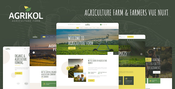 [Free Download] Agrikol – Vue Nuxt Template For Agriculture Farms (Nulled) [Latest Version]