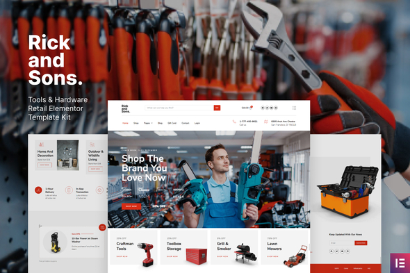 [Free Download] Rick and Sons – Tools & Hardware Retail WooCommerce Template Kit (Nulled) [Latest Version]