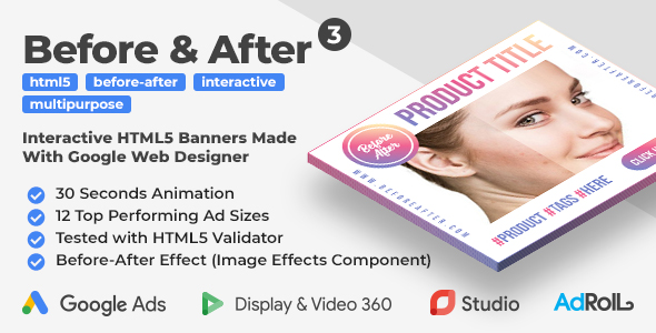 [Free Download] Before & After 3 – Interactive Animated HTML5 Banner Ad Templates (GWD) (Nulled) [Latest Version]