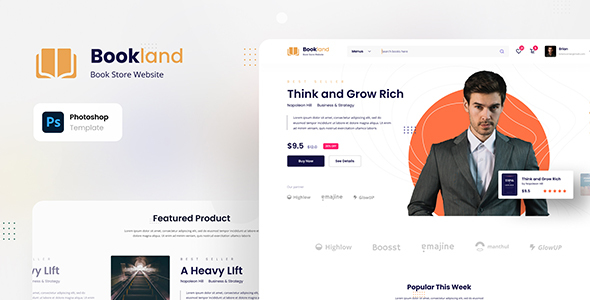 [Free Download] Bookland – Book Store Ecommerce Website (Nulled) [Latest Version]