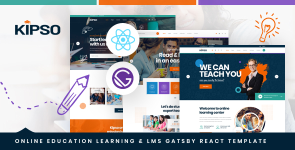 [Free Download] Kipso – Gatsby React Online Education Learning & LMS Template (Nulled) [Latest Version]