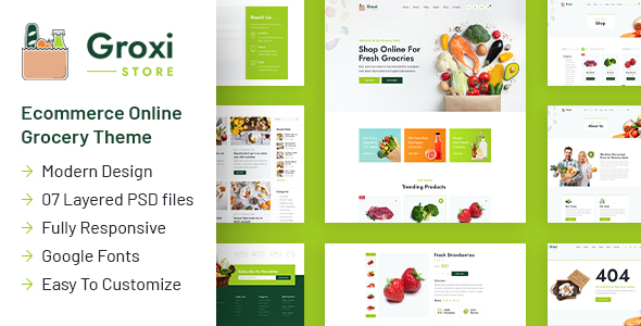 [Free Download] Groxi – Grocery Store Template (Nulled) [Latest Version]