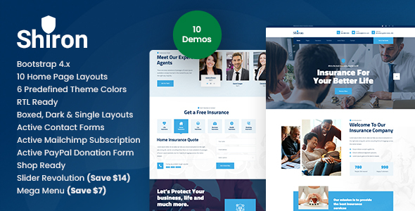 [Free Download] Shiron – Insurance Finance HTML Template (Nulled) [Latest Version]