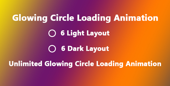 [Free Download] Glowing Circle Loading Animation (Nulled) [Latest Version]