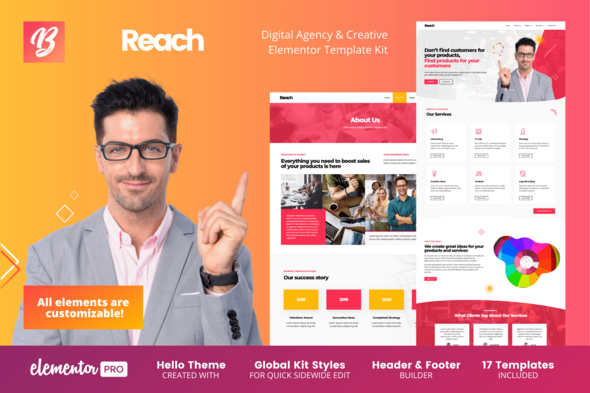 [Free Download] Reach – Digital Agency & Creative Elementor Template Kit (Nulled) [Latest Version]