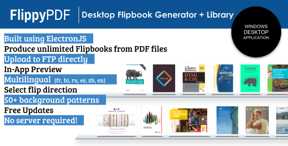 [Free Download] FlippyPDF – PDF to HTML Flipbook Generator + Library (Nulled) [Latest Version]