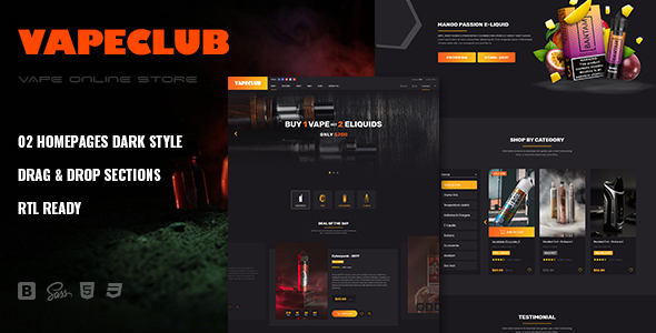 [Free Download] VapeClub | Electronic Cigarettes & Accessories Shopify Theme (Nulled) [Latest Version]