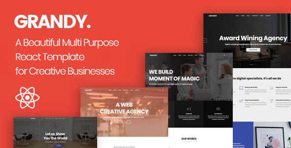 [Free Download] Grandy – Creative Multi Purpose React Template (Nulled) [Latest Version]