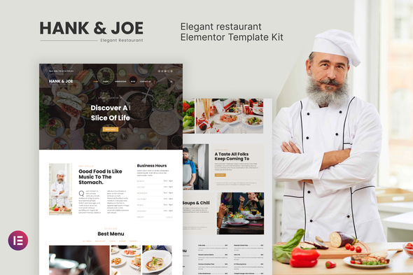 [Free Download] Hank & Joe – Elegant Restaurant Elementor Template Kit (Nulled) [Latest Version]