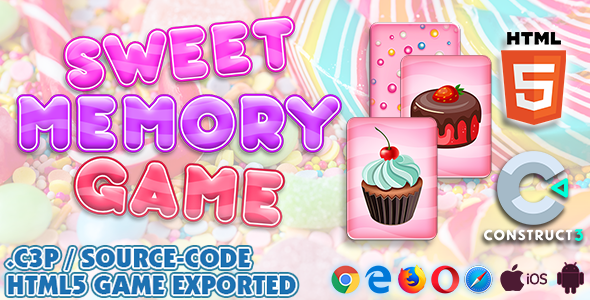 [Free Download] Sweet Memory HTML5 Game – Construct 3 All Source-code (.c3p) (Nulled) [Latest Version]