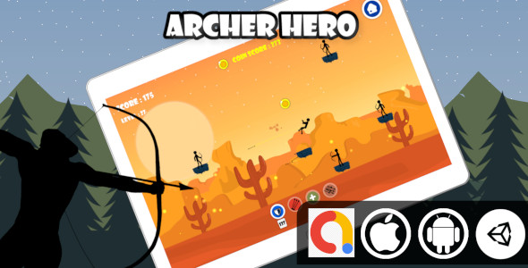 [Free Download] Archer Hero Unity 2D Shooter Game With Admob for Android and iOS (Nulled) [Latest Version]