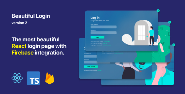 [Free Download] Beautiful Login 2 – Your ReactJS and Firebase login starter pack (Nulled) [Latest Version]