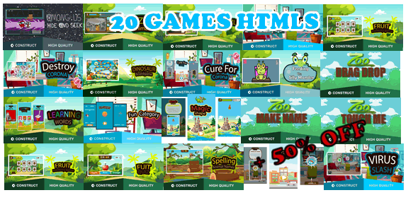 [Free Download] Bots Bundle 20 Games – HTML5 Game (capx) (Nulled) [Latest Version]