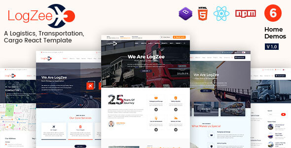 [Free Download] Logzee | Logistics, Transportation, Cargo React Js Template (Nulled) [Latest Version]