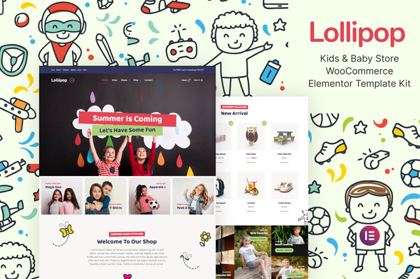 [Free Download] Lollipop – Kids & Baby Store WooCommerce Elementor Template Kit (Nulled) [Latest Version]