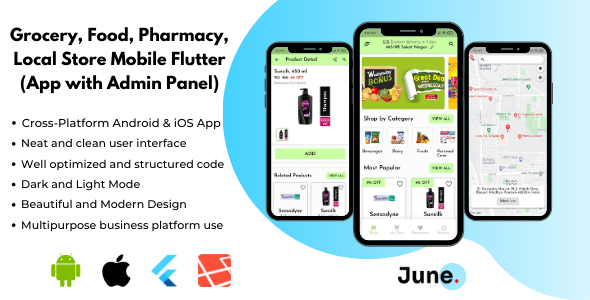 [Free Download] Grocery App Flutter with Admin Panel (Backend) – Foods and Pharmacy Store (Nulled) [Latest Version]