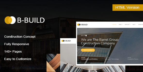 [Free Download] B-Build – Construction HTML Template (Nulled) [Latest Version]