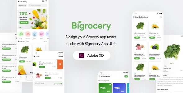 [Free Download] Bigrocery For Adobe XD (Nulled) [Latest Version]