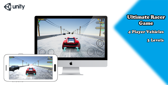 [Free Download] Ultimate Racer Game – Unity Racing Game – Car Rush (Nulled) [Latest Version]