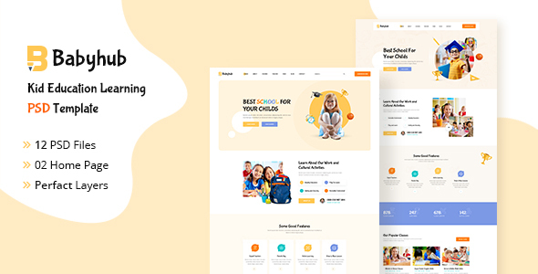 [Free Download] Babyhub – Kids Kindergarten PSD Template (Nulled) [Latest Version]