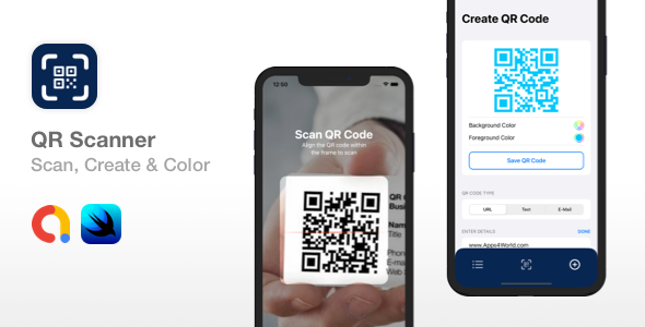 [Free Download] QR Scanner – Create, Color & Scan QR codes | SwiftUI (Nulled) [Latest Version]