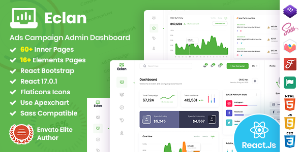 [Free Download] Eclan – Ads Campaign React Admin Dashboard (Nulled) [Latest Version]