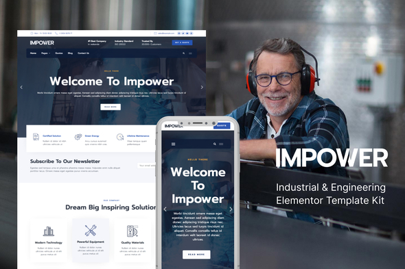 [Free Download] Impower – Engineering and Industrial Template Kit (Nulled) [Latest Version]
