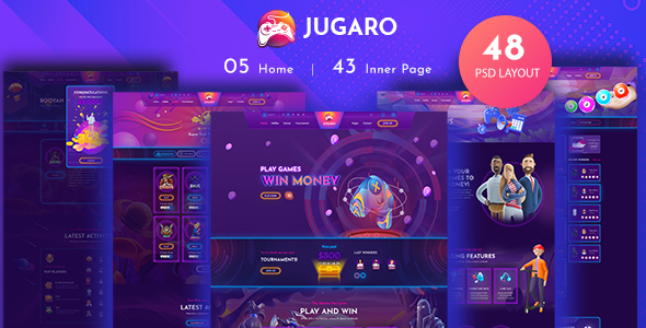 [Free Download] Jugaro – eSports and Gaming PSD Templates (Nulled) [Latest Version]