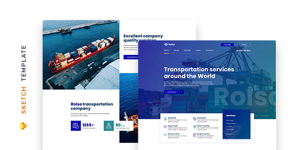 [Free Download] Rolso – Logistic Company Template for Sketch (Nulled) [Latest Version]