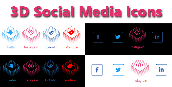 [Free Download] 3D Social Media Icons (Nulled) [Latest Version]