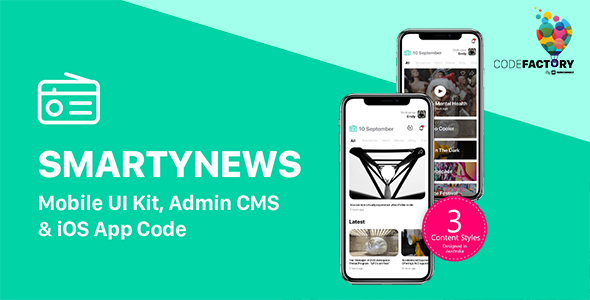 [Free Download] SMARTYNEWS – Mobile UI Kit, Admin CMS & iOS App Code (Nulled) [Latest Version]