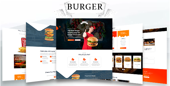 [Free Download] Burger – Restaurant food html landing page (Nulled) [Latest Version]