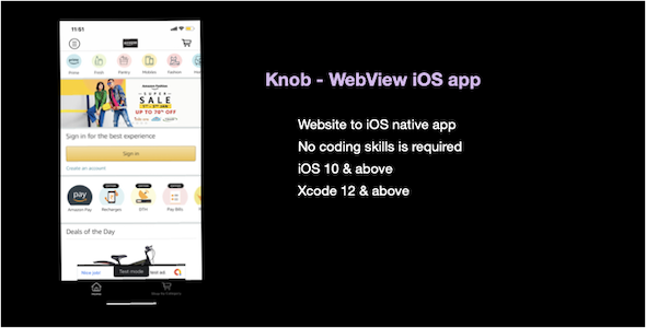 [Free Download] Knob – WebView iOS app (Nulled) [Latest Version]