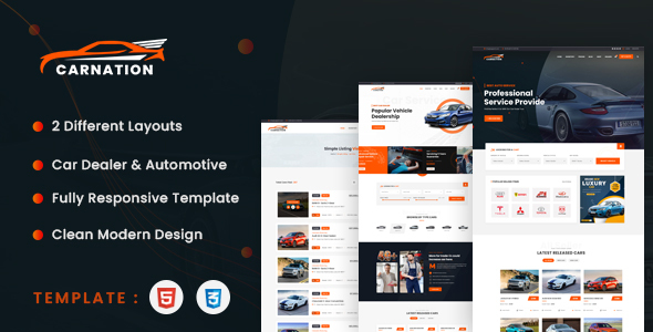 [Free Download] Carnation – Car Dealership and Listings HTML Template (Nulled) [Latest Version]