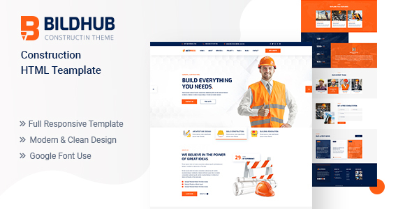 [Free Download] Bildhub – Construction HTML Template (Nulled) [Latest Version]