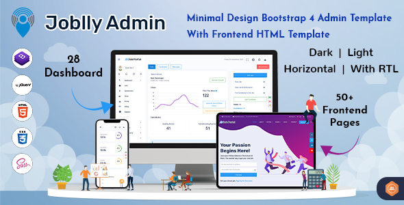 [Free Download] Joblly – Career Admin Dashboard Bootstrap HTML (Nulled) [Latest Version]