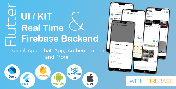 [Free Download] Flutter UI Kit With Real Time Firebase (Social App, Chat App & More.) (Nulled) [Latest Version]